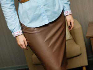 Любимица девушек, юбка-карандаш из эко-кожи.   Ярмарка Мастеров - ручная работа, handmade