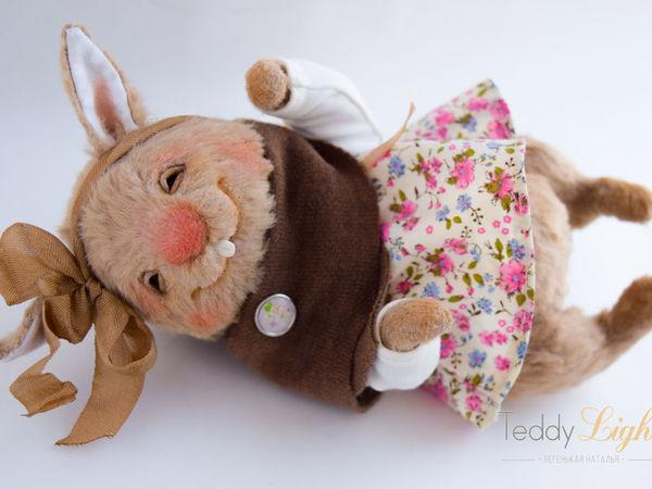 Розыгрыш очаровательной зайчишки от Натальи Легенькойhttps://www.livemaster.ru/item/19065809-kukly-i-igrushki-zajka-teddi-rozygrysh | Ярмарка Мастеров - ручная работа, handmade