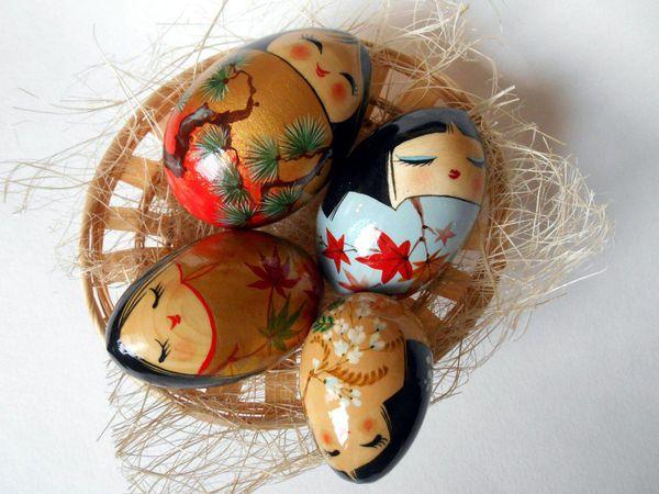 Роспись японских куколок кокэси   Ярмарка Мастеров - ручная работа, handmade