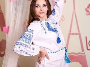 АНОНС: Славянская вышивка ручной работы - голубая и монохром! | Ярмарка Мастеров - ручная работа, handmade