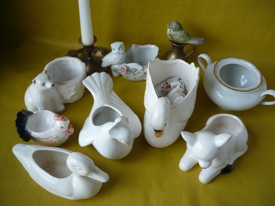 лебедь, вазы, антик