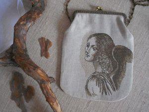 Аукцион - сумочка по картине Леонардо да Винчи. Ярмарка Мастеров - ручная работа, handmade.