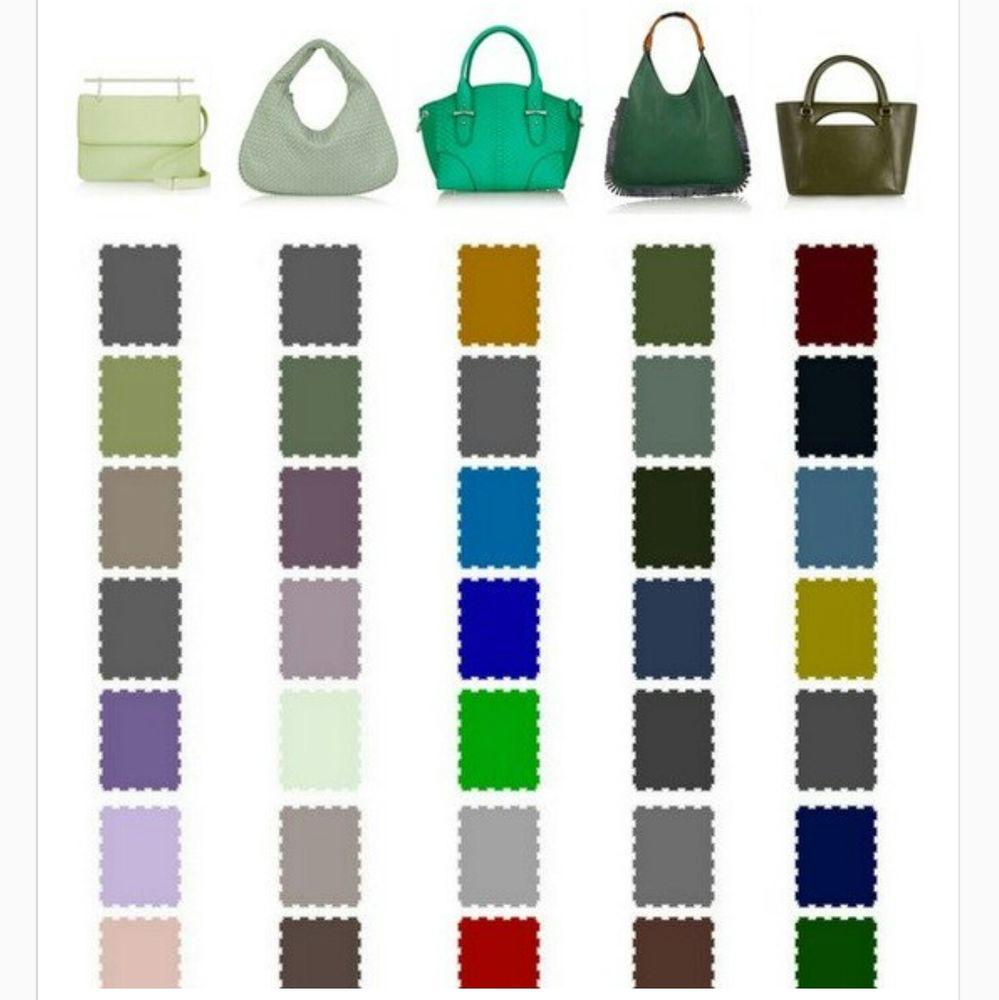 обувь сумка, цветовая палитра