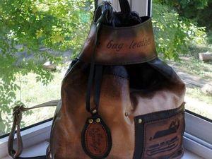 """Акция!Сегодня скидка на кожаный рюкзак """"Trussardi luck"""". Ярмарка Мастеров - ручная работа, handmade."""