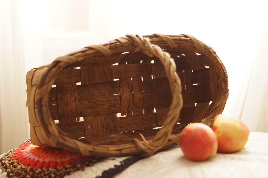 плетение, старинный плетеный короб