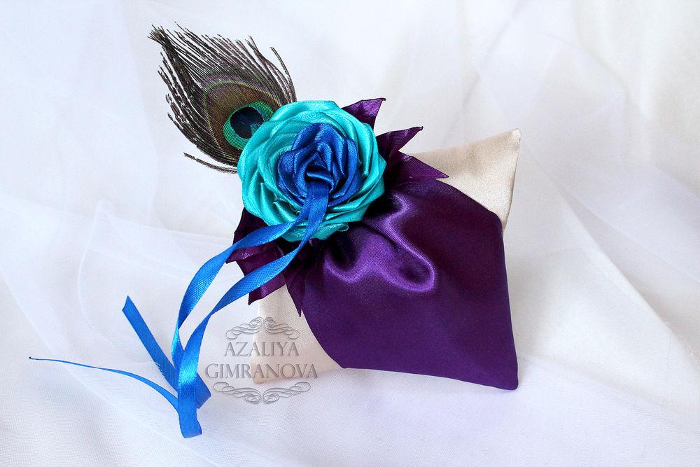 цветы ручн, подвязка невесты, цветы, фиолетовый