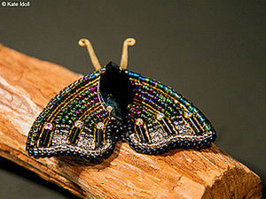 Have a Nice Time Creating a Moth Brooch. Livemaster - handmade