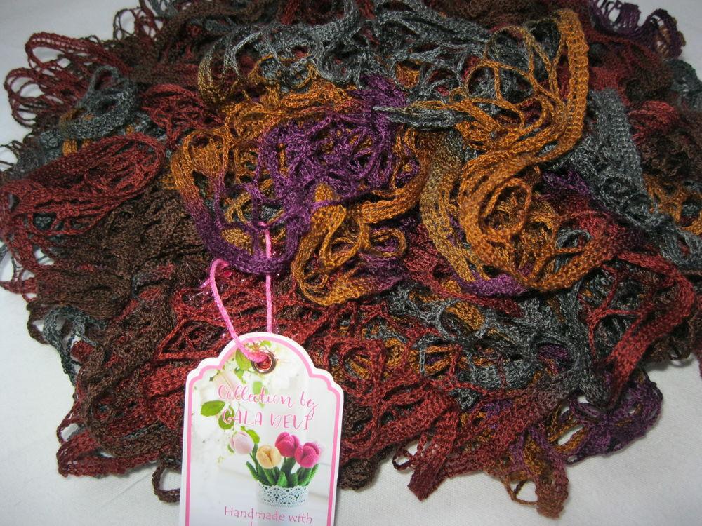 вязаный шарф, вязание спицами, нарядный шарфик, вязаная одежда, ручная вязка