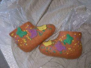 Чуни для девочки, или Как я использую остатки флиса. Ярмарка Мастеров - ручная работа, handmade.