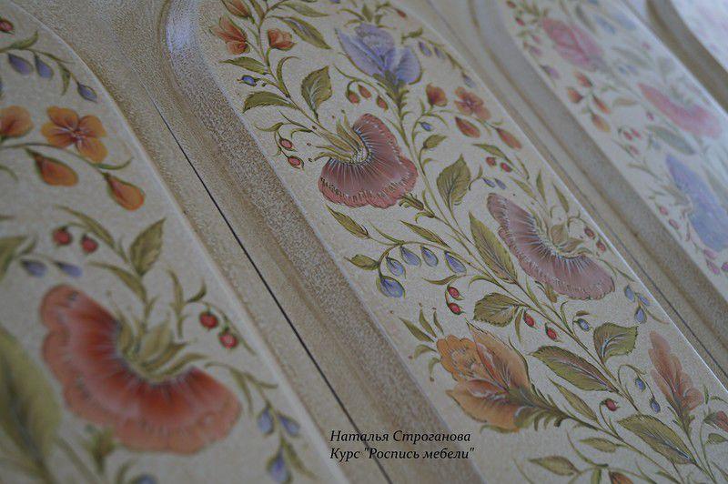 курс роспись мебели, обучение декорированию