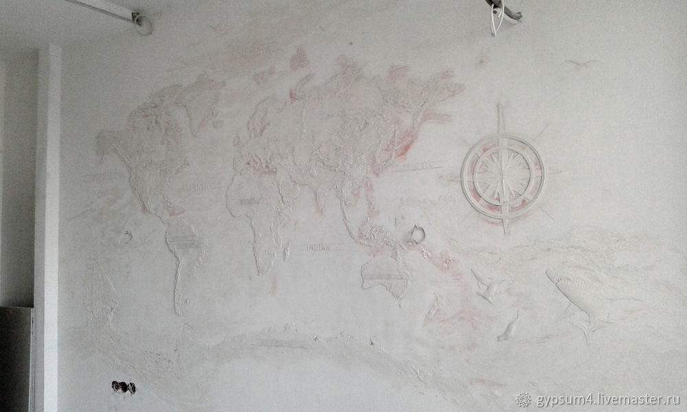 Изготавливаем барельеф «Карта», фото № 26
