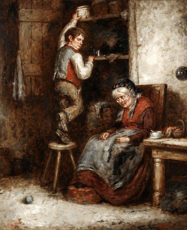 Когда есть чем заняться — стареть некогда: душевные картины о бабушках-рукодельницах, фото № 50