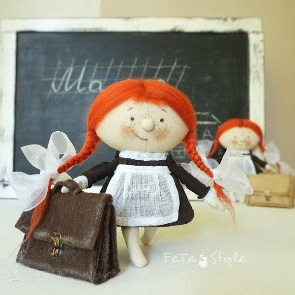 девочка и портфель