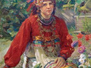 Русский народный костюм: шейные украшения.. Ярмарка Мастеров - ручная работа, handmade.