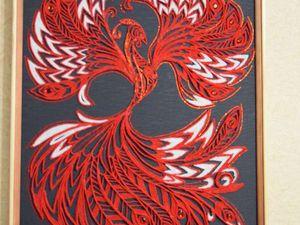 Огненный петушок в технике джутовой филиграни. Ярмарка Мастеров - ручная работа, handmade.