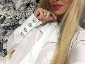 Блузка White Diamond. Ярмарка Мастеров - ручная работа, handmade.
