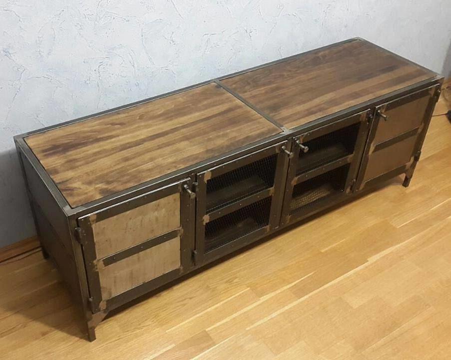 мебель на заказ, комод из стали лофт
