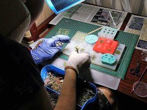 Процесс работы над украшениями.. Ярмарка Мастеров - ручная работа, handmade.