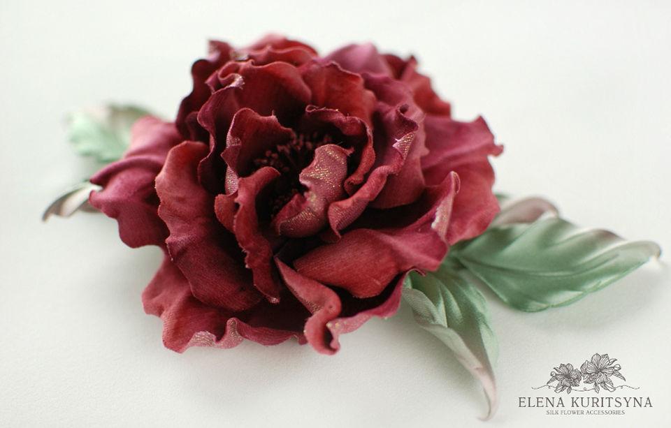 Шелковая флористика создаем розу