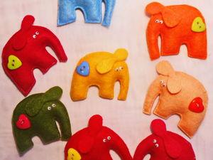 Магнит Веселый слоник в подарок при любой покупке.. Ярмарка Мастеров - ручная работа, handmade.