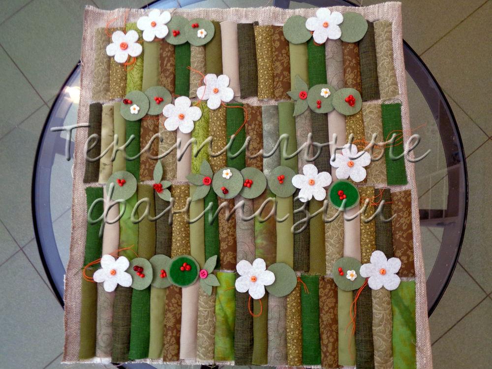 пэчворк, весенняя, земляника, цветы