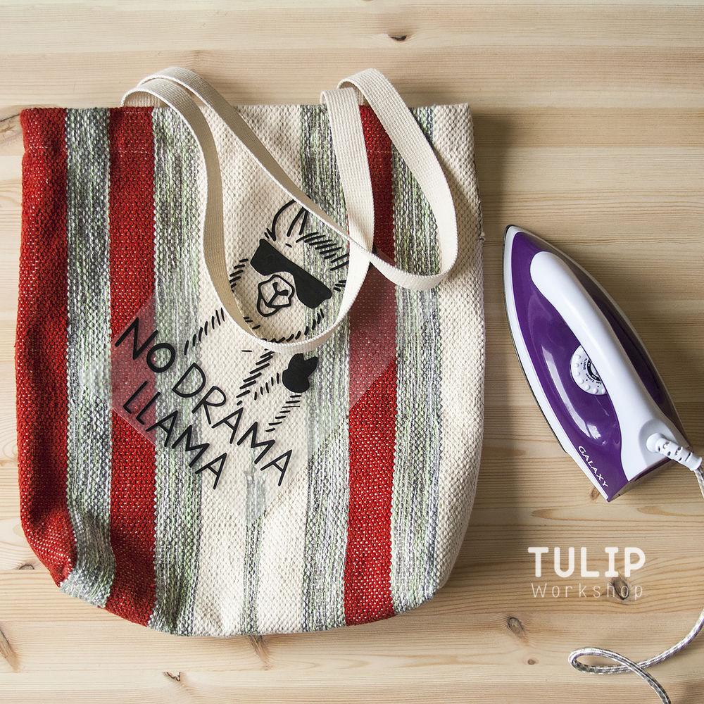 Шьем сумку-шоппер из домотканого коврика без выкройки, фото № 12