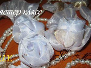 Как сшить розу из ткани очень легко и без клея. Видеоурок. Ярмарка Мастеров - ручная работа, handmade.