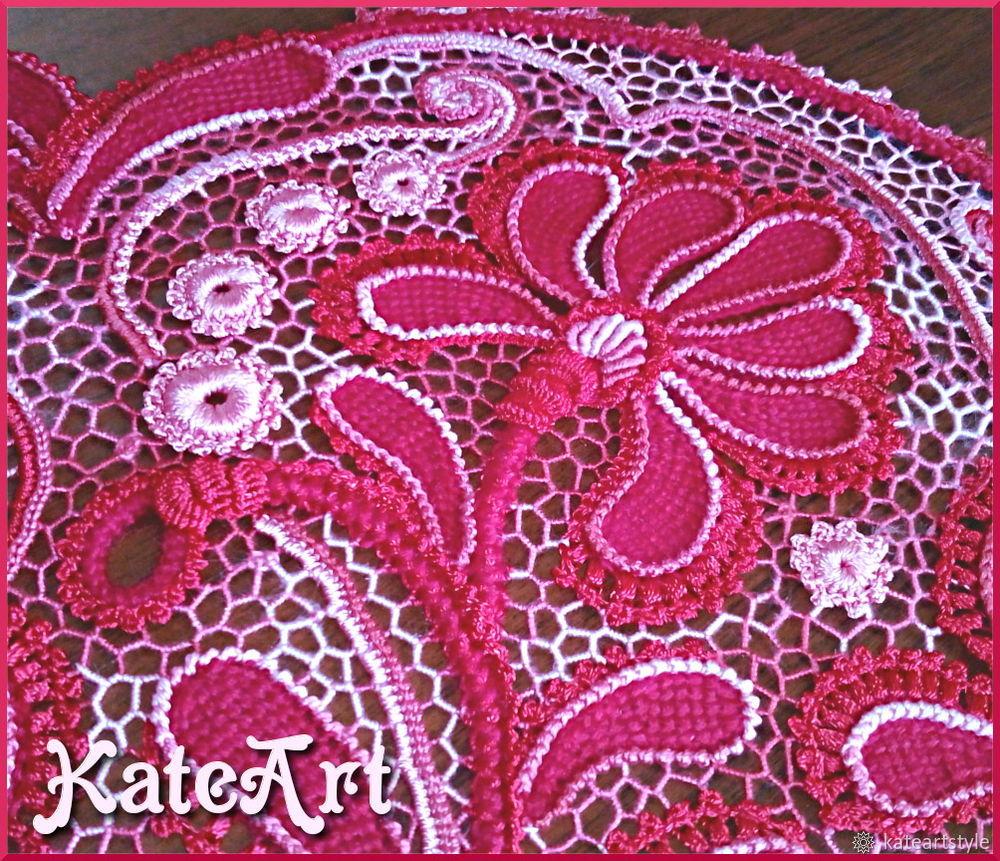 ирландское кружево, кружево ручной работы, тунисское вязание
