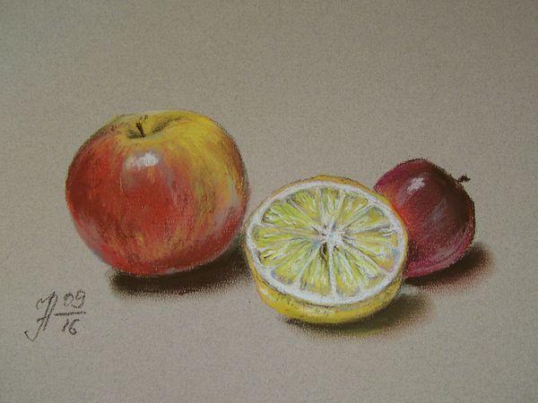 Видео мастер-класс: рисуем фрукты сухой пастелью | Ярмарка Мастеров - ручная работа, handmade