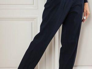 Темно-синяя шерсть на брюки. Ярмарка Мастеров - ручная работа, handmade.