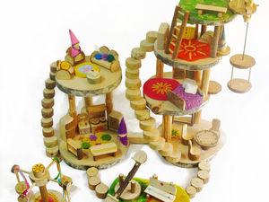 Кукольные домики гномиков | Ярмарка Мастеров - ручная работа, handmade