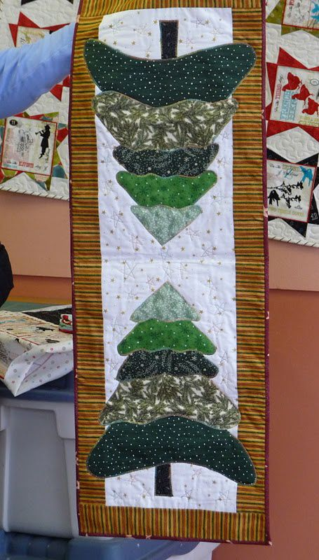 Christmas tree table runner