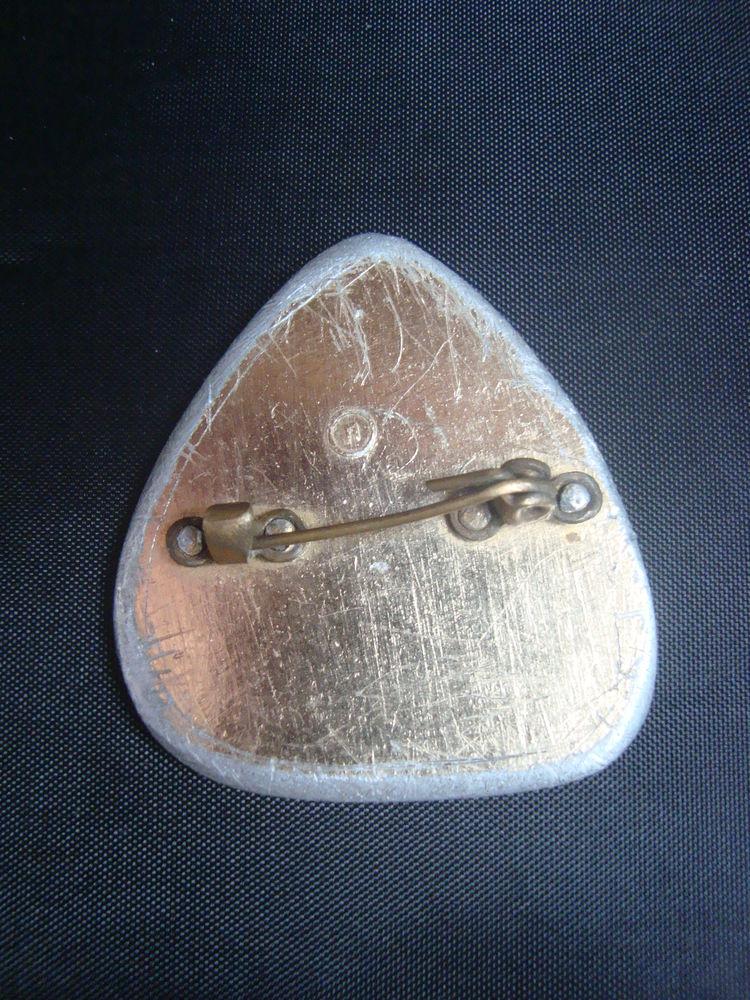 советский значок, треугольная брошь, русский стиль