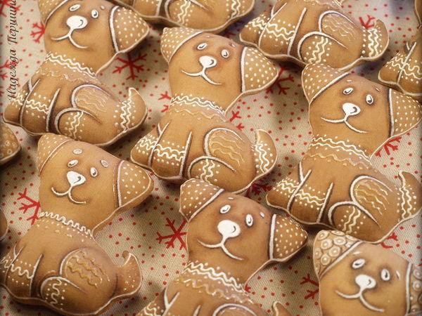 Шьём милую пряничную собачку — символ 2018 года | Ярмарка Мастеров - ручная работа, handmade
