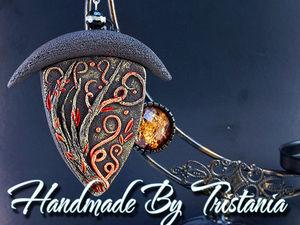 Видеоурок: создаем кулон «Пламя» из полимерной глины. Ярмарка Мастеров - ручная работа, handmade.