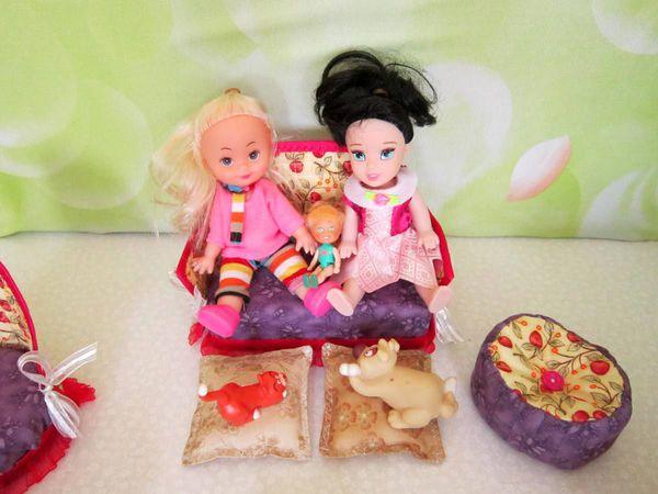 Фотоссесия с куклами мягкой мебели для кукольного домика | Ярмарка Мастеров - ручная работа, handmade