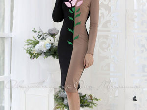Аукцион на трикотажное платьице с  декором из фетра!!!Старт 2000 р.!!!. Ярмарка Мастеров - ручная работа, handmade.