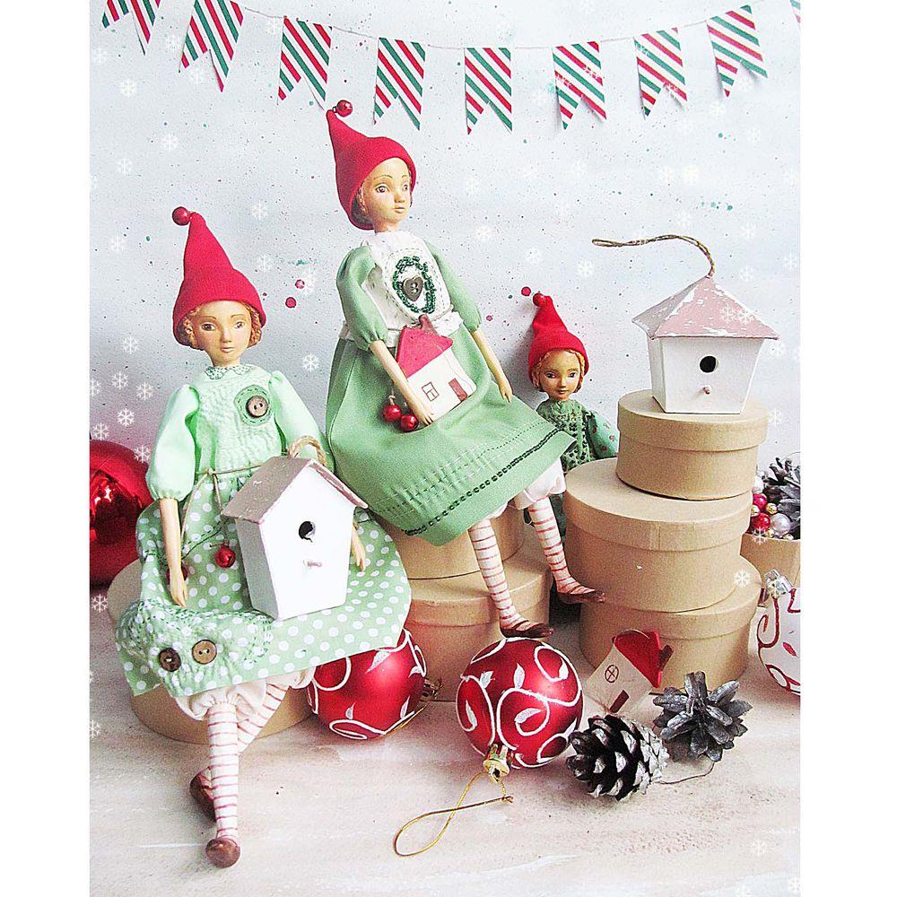рождество, новогодний подарок, доброта, авторская работа, будуарная кукла