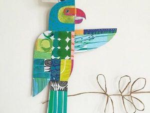Жизнерадостные звери из бумаги и ткани от дизайнера Clare Youngs. Ярмарка Мастеров - ручная работа, handmade.