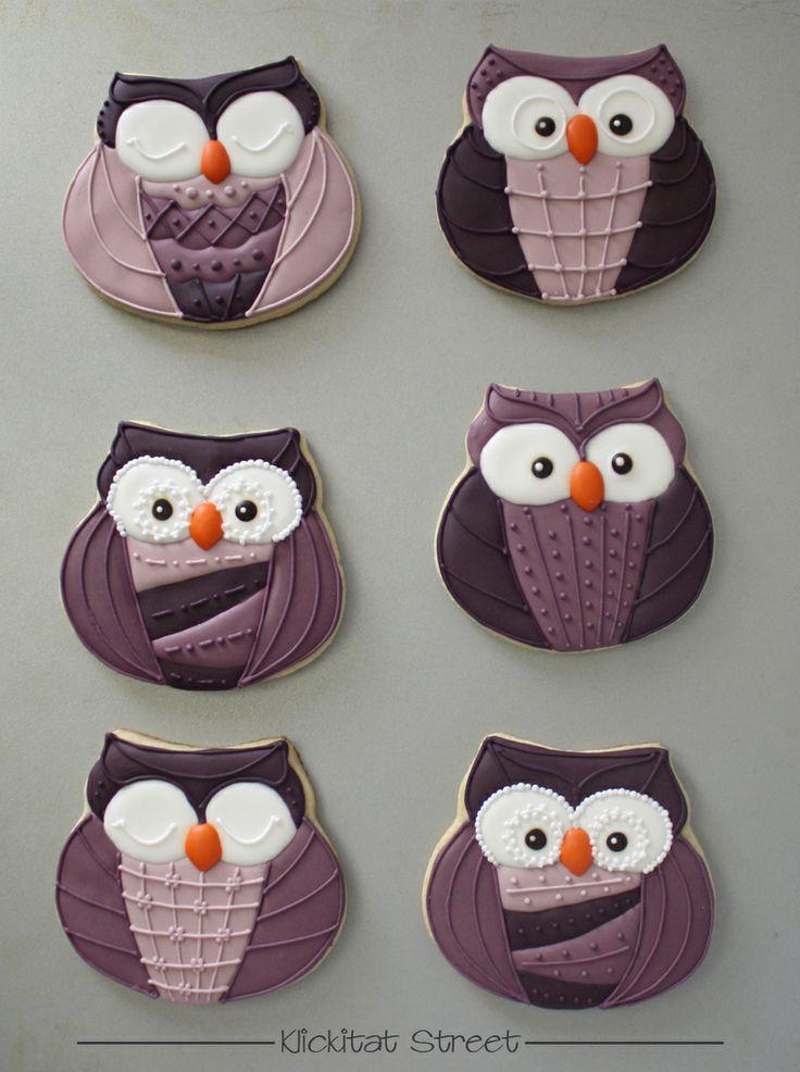 Patterned Owl Cookies   Klickitat Street
