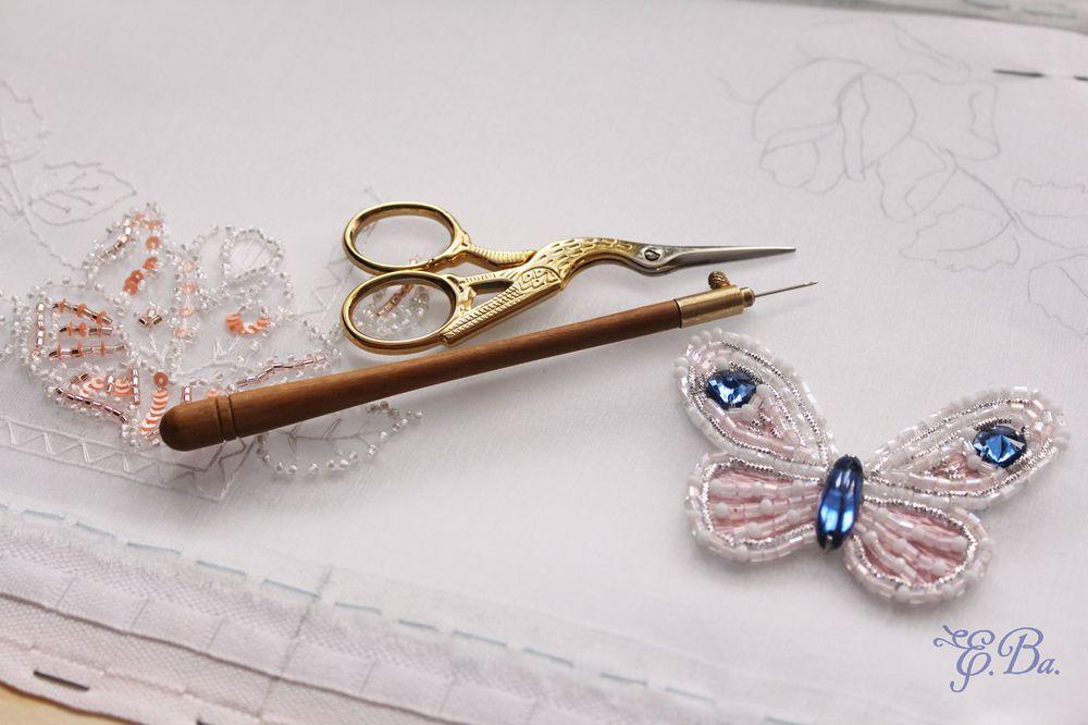 люневильский крючок, объемная вышивка