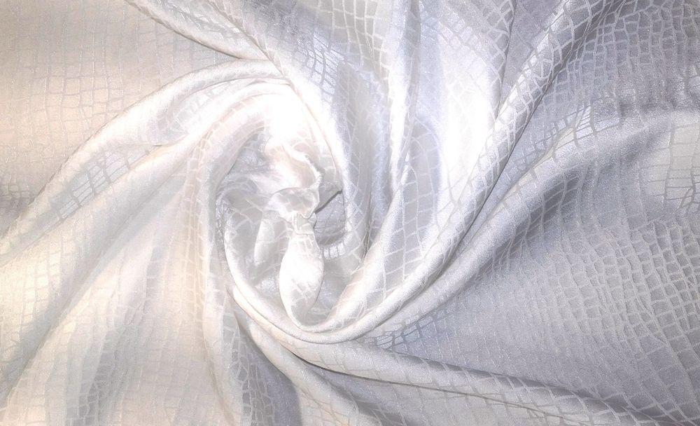 шелковый жаккард, шёлк натуральный, отбеленный жаккард, шелк для шитья