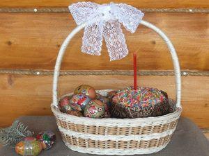 Новое поступление плетеных корзин к Пасхе. Ярмарка Мастеров - ручная работа, handmade.