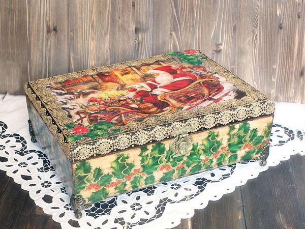 Доп. фото Новогоднего короба | Ярмарка Мастеров - ручная работа, handmade