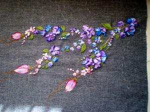 Секционная окраска атласных лент в микроволновке | Ярмарка Мастеров - ручная работа, handmade