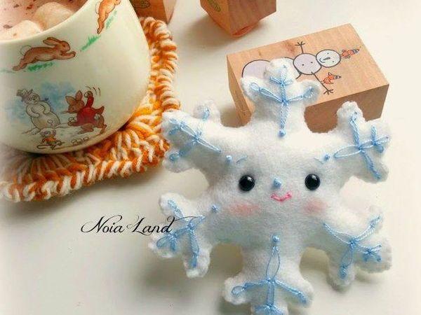 Идеи для создания игрушек из фетра на елочку | Ярмарка Мастеров - ручная работа, handmade
