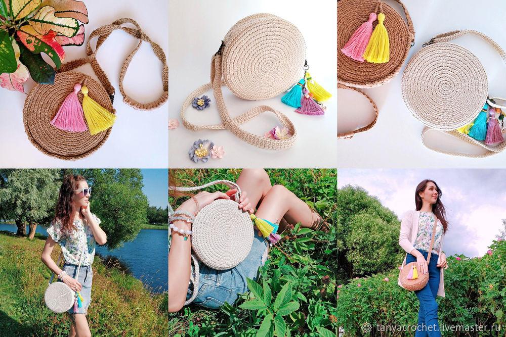 round bag, crochet diy