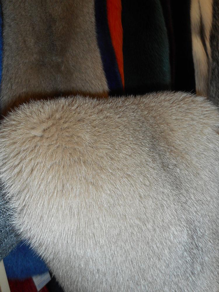 мех песец коричневый