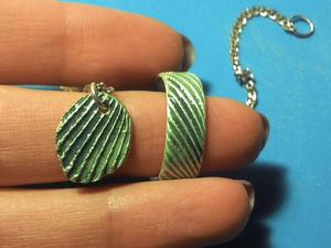 Как сделать из серебряной глины широкое кольцо с рельефом. Ярмарка Мастеров - ручная работа, handmade.