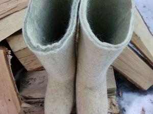 АУКЦИОН на мужскую пару валенок. Ярмарка Мастеров - ручная работа, handmade.